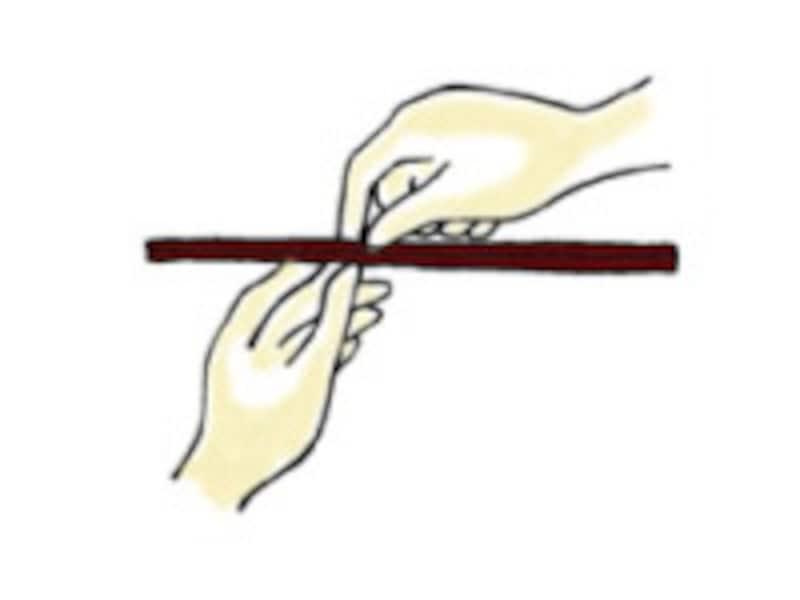 箸の割り方