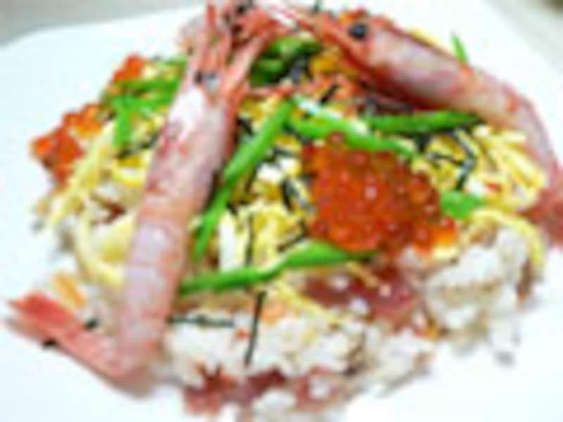 レトルトで作る海鮮ちらし寿司
