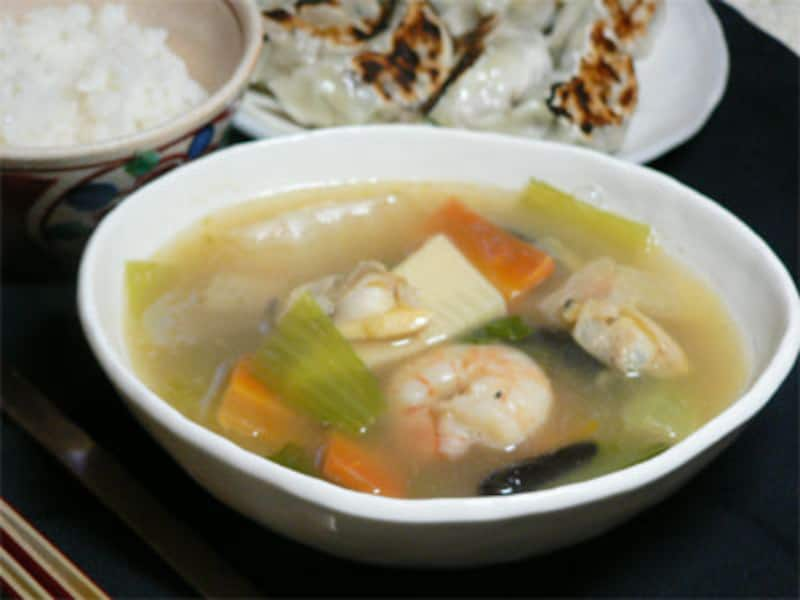 海鮮中華風スープ