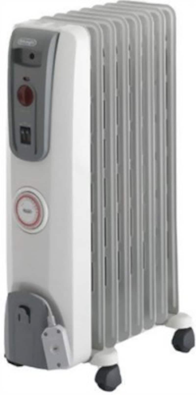 部屋全体を温める暖房器具:オイルヒーター
