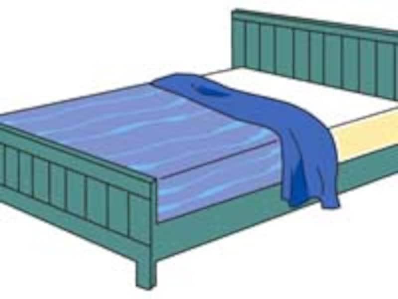 ベッド、ストレス、整理