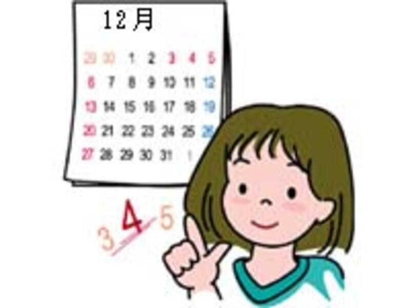 引越し、カレンダー