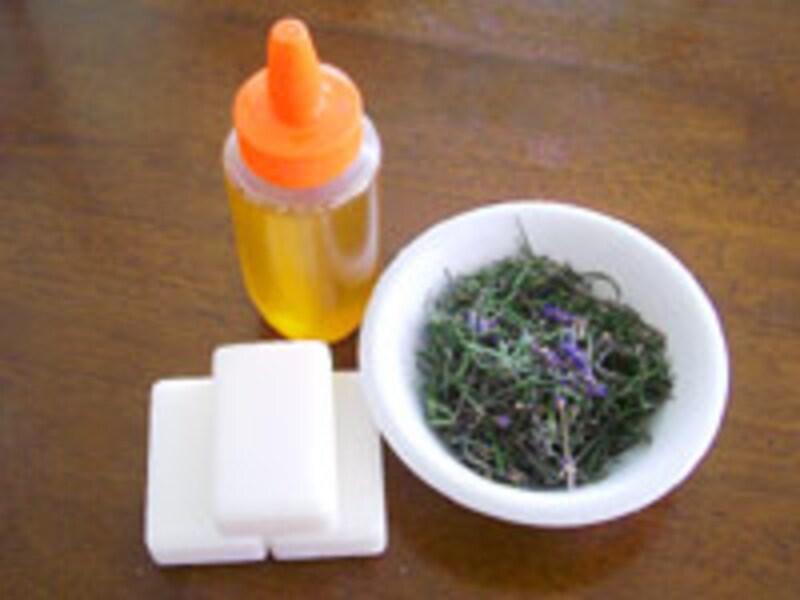 ハーブ石鹸の材料