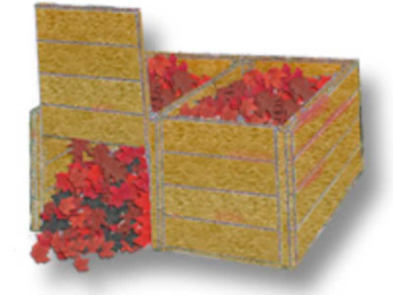 堆肥枠の使用例
