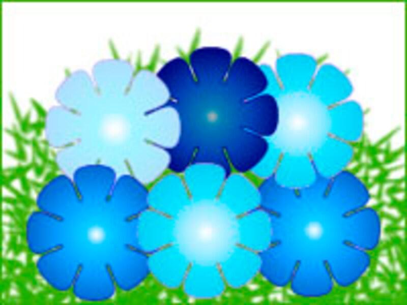 青のグラデ