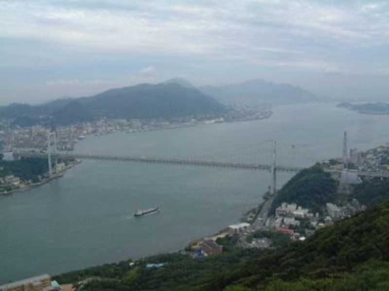 《下関》火の山公園から眺める関門橋