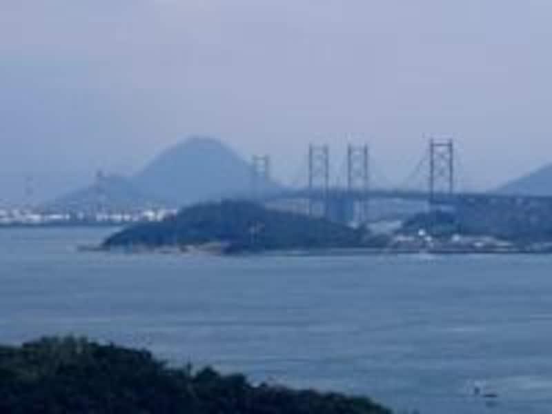 《倉敷》鷲羽山から眺める瀬戸大橋
