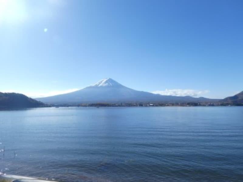 河口湖北岸から見た富士山