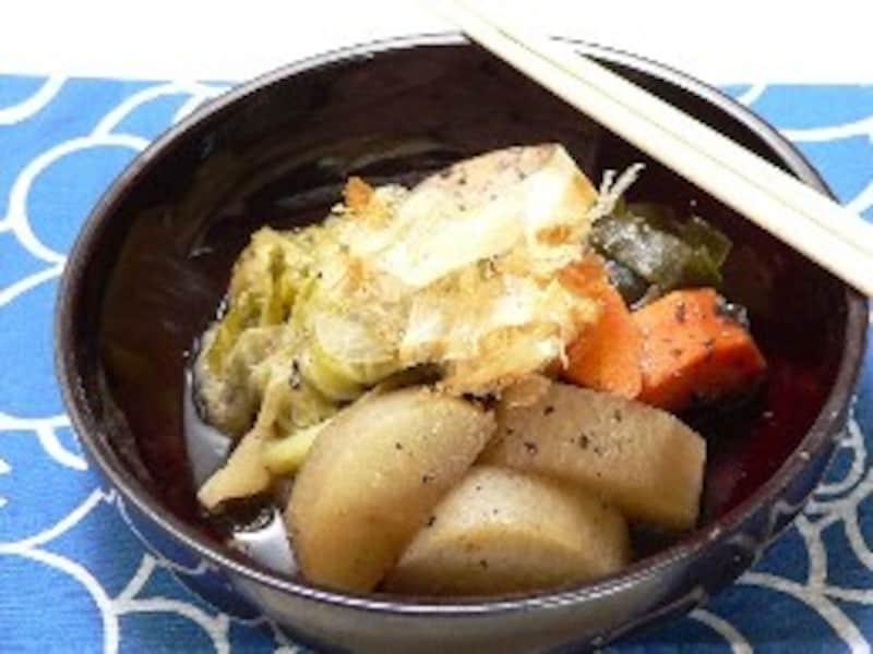 野菜と鶏肉の南部煮