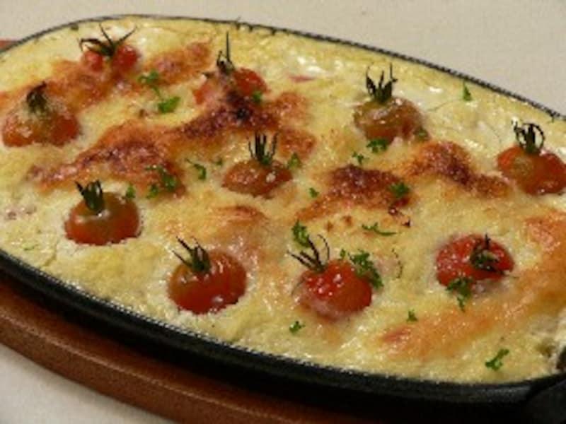 トマトのポテトグラタン