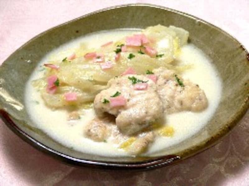 白菜と鶏肉のミルク煮