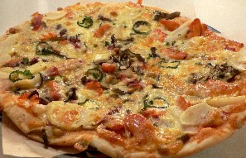 舞茸と大豆のピザ