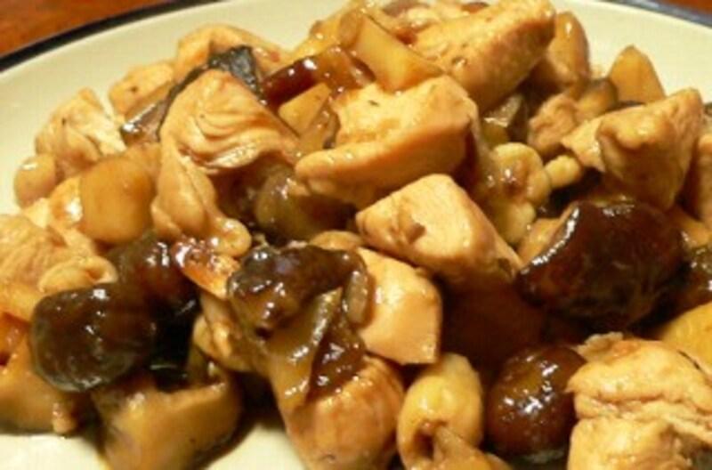 鶏肉と甘栗の煮物