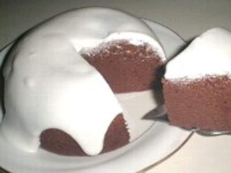 お釜でシフォンケーキ