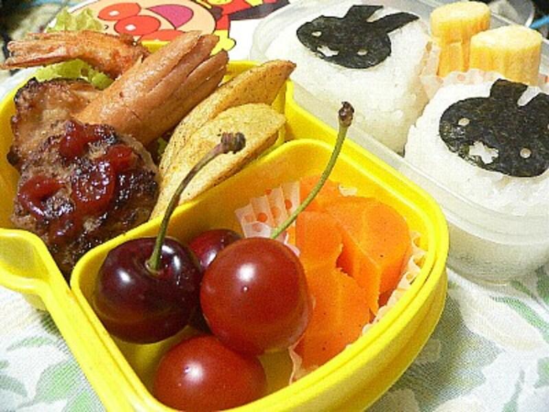 幼稚園児の芋ほり遠足弁当