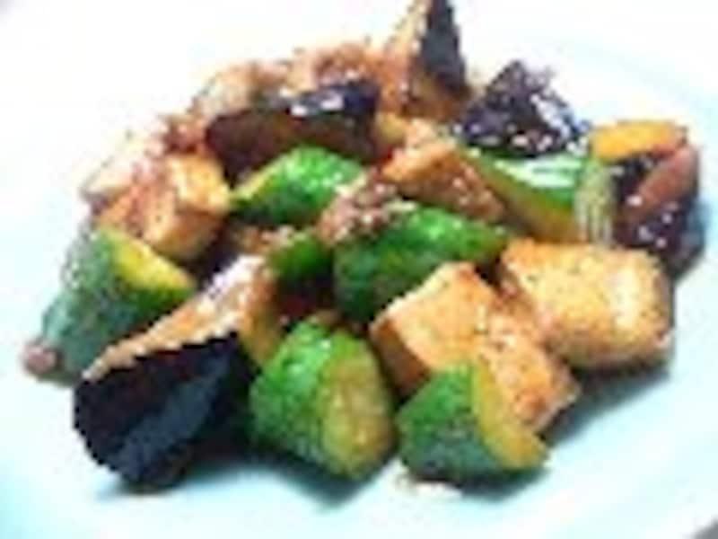生揚げと野菜の炒め物