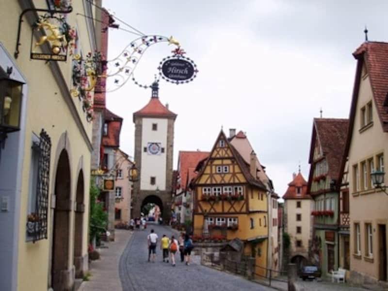 ローテンブルクでは中世にタイムスリップ