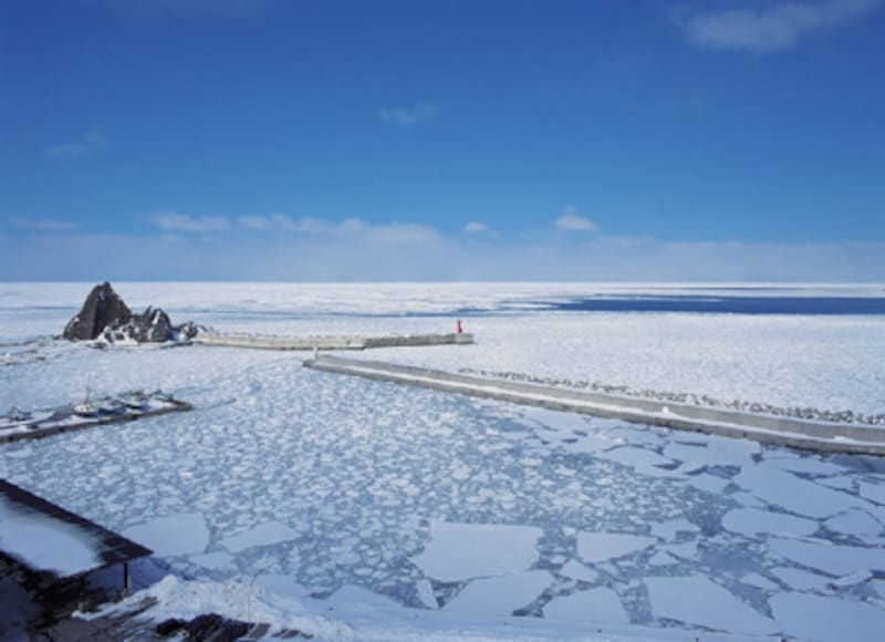 知床グランドホテル北こぶしから見た流氷