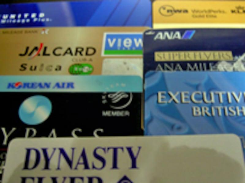 各航空会社のマイレージカード