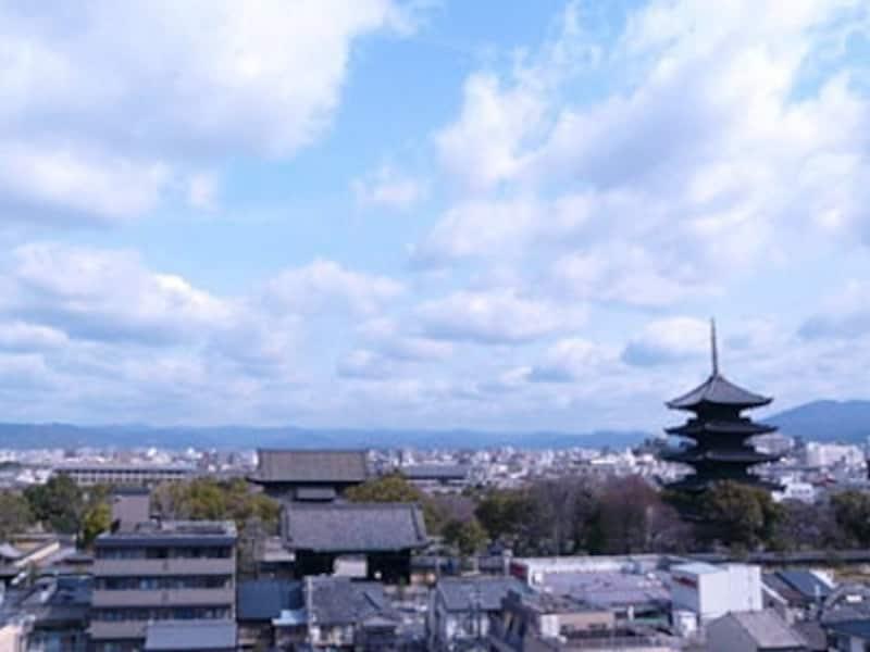 コンパクトな街の中に、寺社や博物館などの観光スポットがぎっしりつまった京都の町