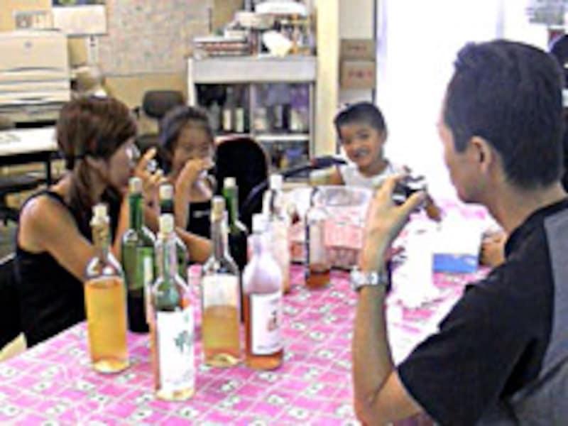 ワイン&ジュースの試飲