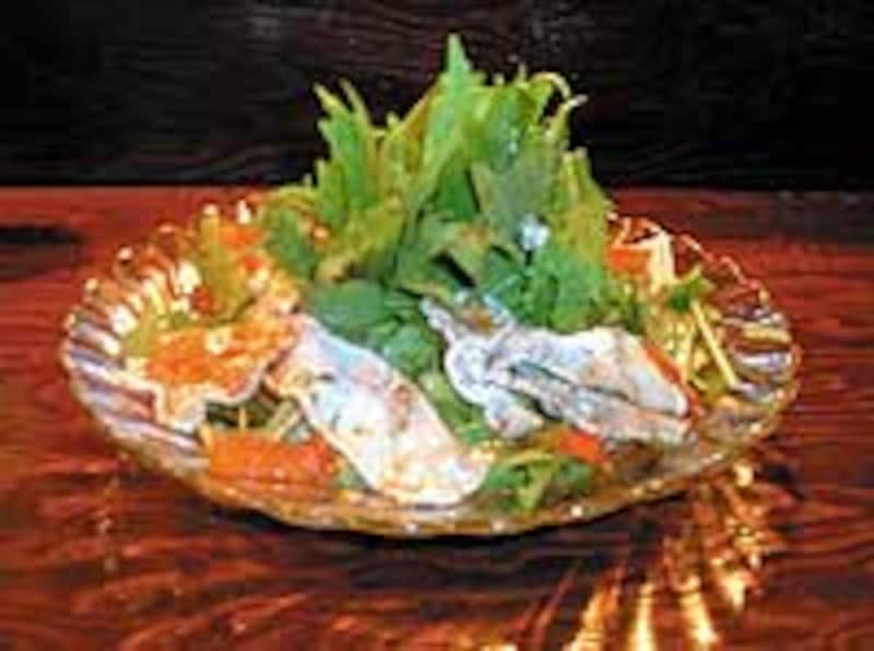 水菜と県産豚のしゃぶしゃぶサラダ