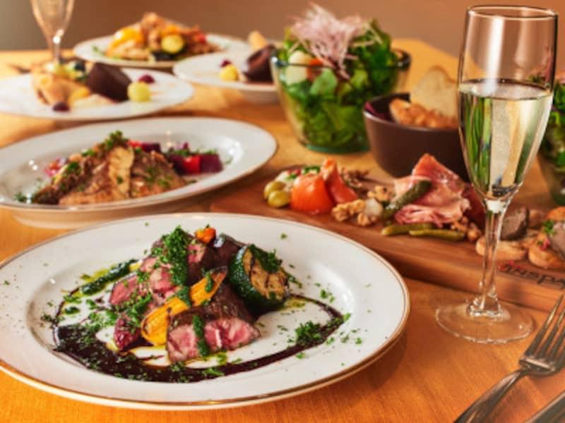 契約している三浦農家の朝どれ旬野菜を使った、美と健康を意識した創作料理が味わえる「レストラン客座(ギャザ)」の特別ディナーコース(5000円)(画像はイメージ、画像提供:インスパ横浜)