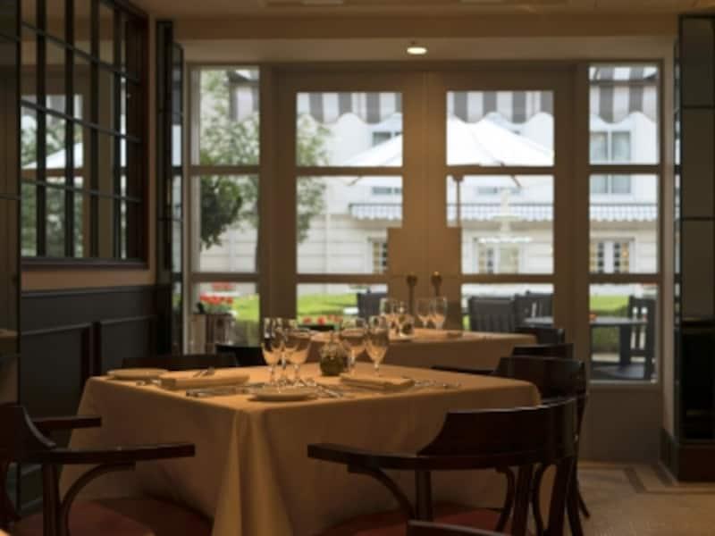 ホテルニューグランドの中庭に面している、本館1階イタリアンレストラン「イル・ジャルディーノ」(2016年10月3日撮影)