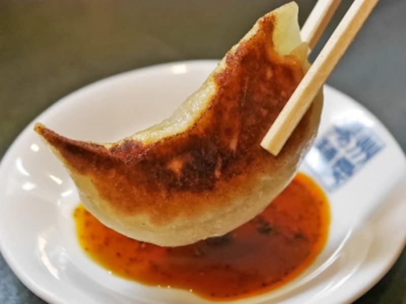鹿児島県産黒豚を使用した餃子は、肉の旨みがたまらない!(2017年5月20日撮影)
