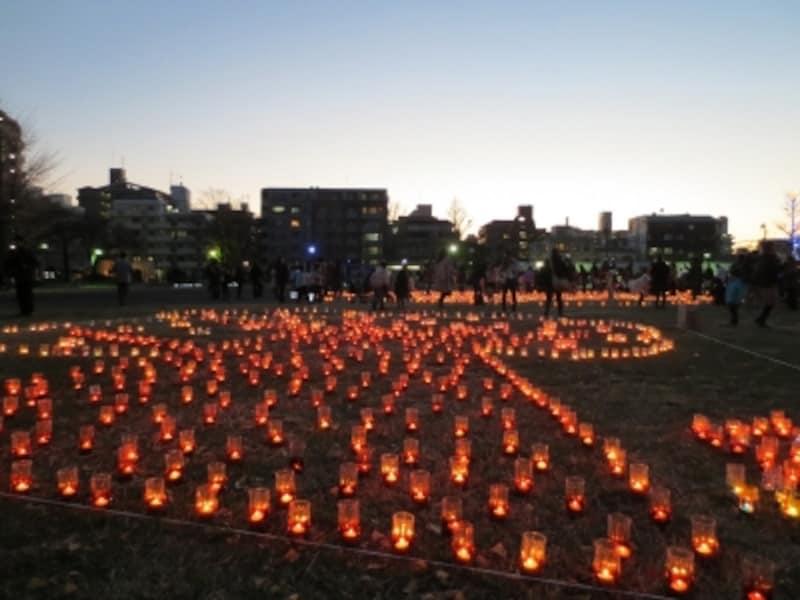 南区にある蒔田公園周辺で行われるキャンドルイベント「光のぷろむなぁど」undefined※画像は2012年のようす