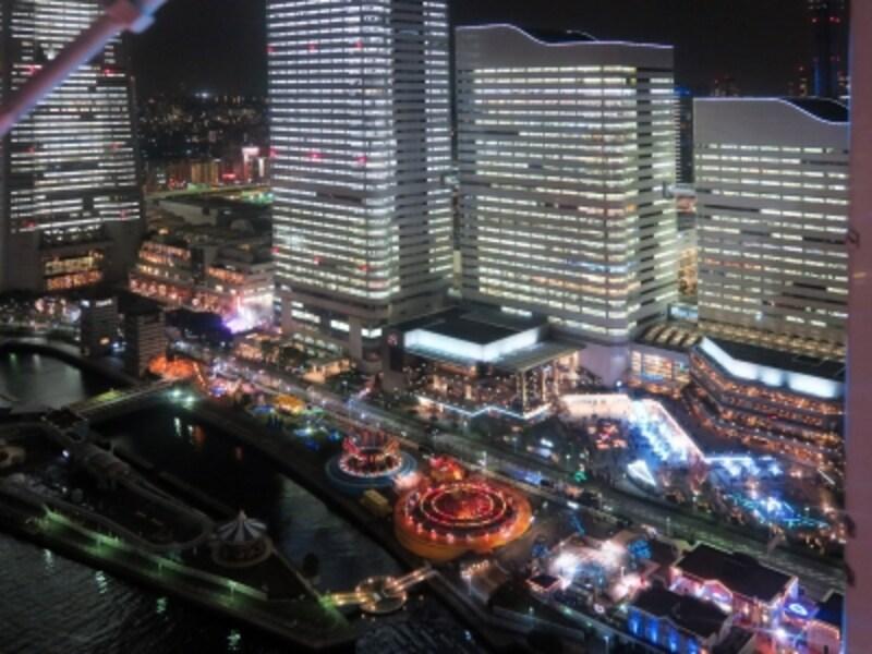 大観覧車コスモクロック21からの眺め(2015年12月24日撮影)