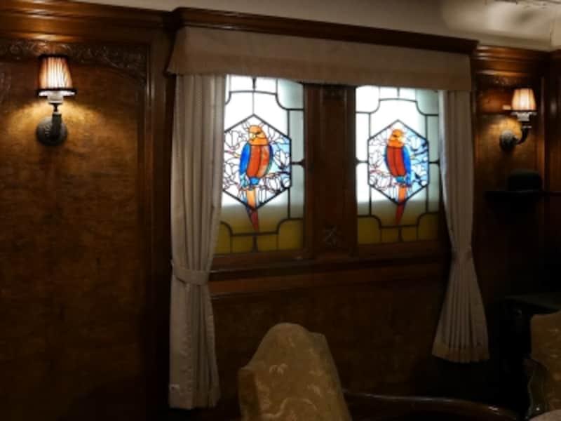一等特別室はステンドグラスが印象的(2016年12月28日撮影)