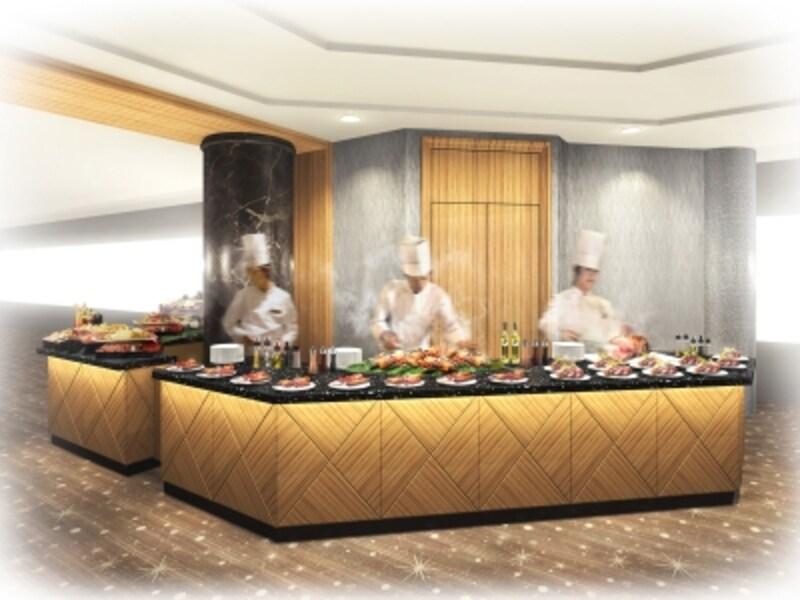 スカイラウンジ「シリウス」のランチブッフェに「ライブキッチン」が新登場(画像はイメージ、画像提供:横浜ロイヤルパークホテル)