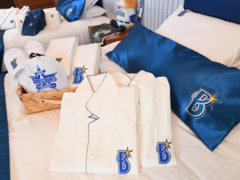 宿泊プランはオリジナルグッズ(横浜DeNAベイスターズロゴ入りバスタオル&フェイスタオル、コップ、トートバック)付(画像はイメージ、画像提供:横浜ベイスターズ)