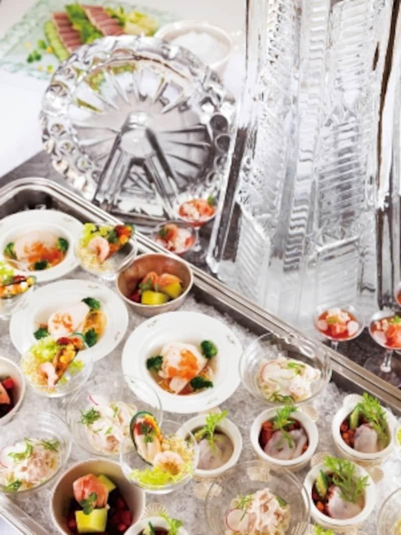 氷を使った料理など、夏ならではのメニューが並ぶランチブッフェが楽しめます(画像はイメージ、画像提供:横浜ロイヤルパークホテル)