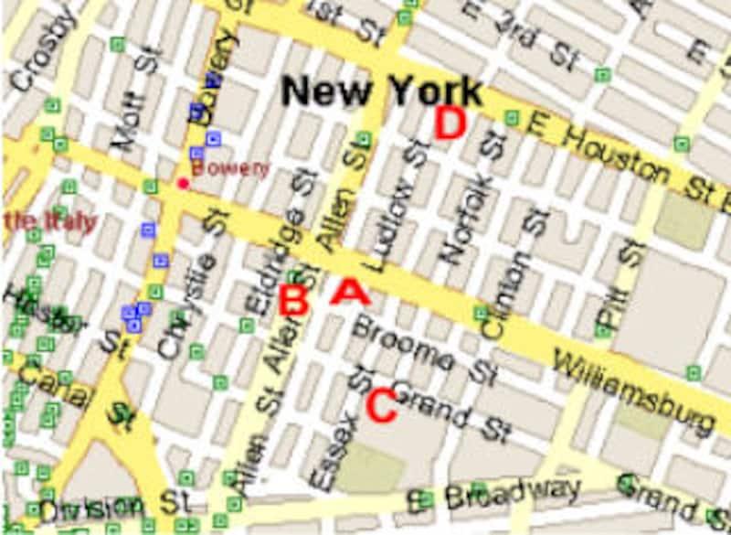 ローワー・イースト・サイドの地図