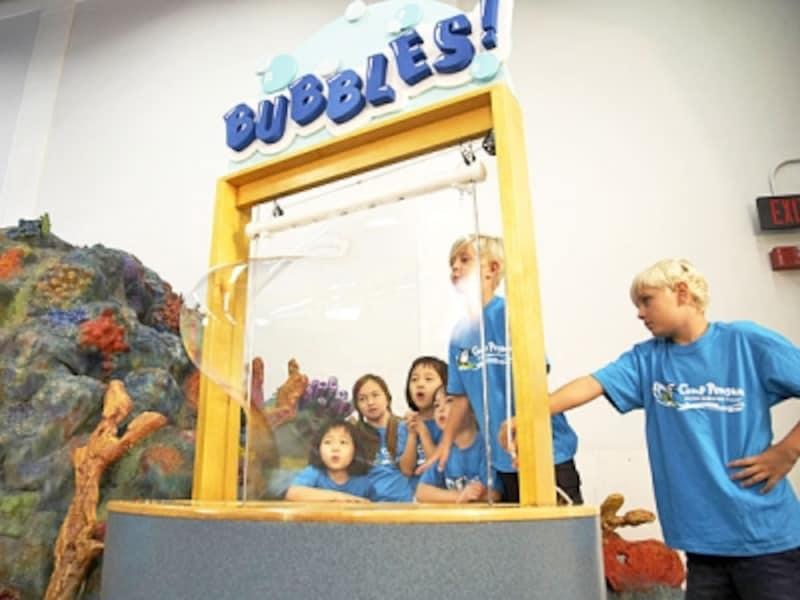 ヒルトン「キャンプ・ペンギン」では、子供博物館のチルドレンズ・ディスカバリー・センターにも出掛けます