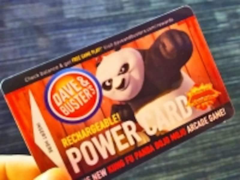 こちらがパワーカード。ポイント購入額が高いほどおまけのポイントがついてお得