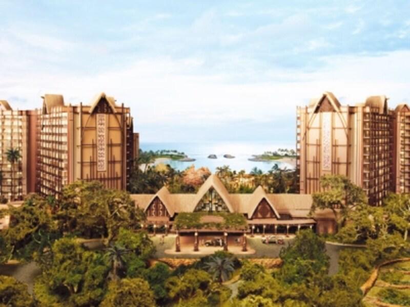 テーマパークを併設しないディズニー直営のリゾートホテル。コオリナの美しいラグーンを臨む(C)Disney