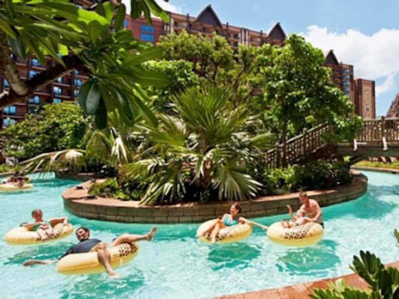 流れるプール、ワイコロヘ・ストリームは全長270メートル(C)Disney