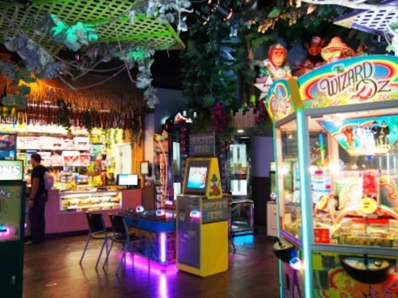 ジャングル・ファンでは、ゲームで貯めた得点を好きな景品と交換できる