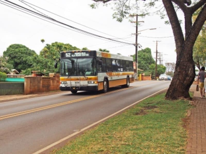 アラモアナセンターとノースショアのハレイワを結ぶ52番バス