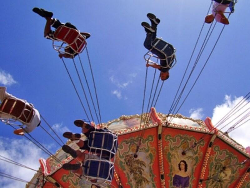 遊園地がないハワイでは、カーニバル(移動遊園地)がやってくる「50tnステート・フェア」はローカルも心待ちにしているイベント