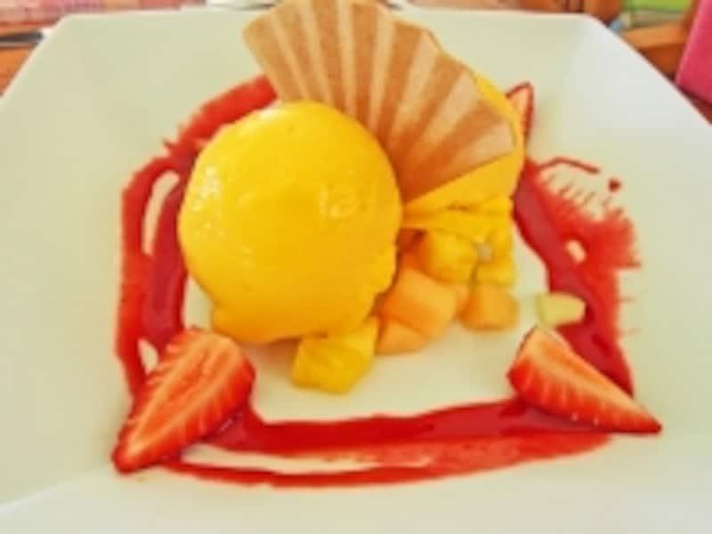 食後のデザートやティータイムにおすすめのマンゴーシャーベット