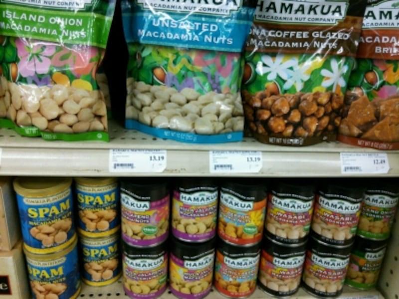 チリペッパー、ブラックペッパー、激辛のハラペーニョ、ワサビなどスパイシーなフレーバーが揃う「ハマクア」社ブランド。スパム味もある