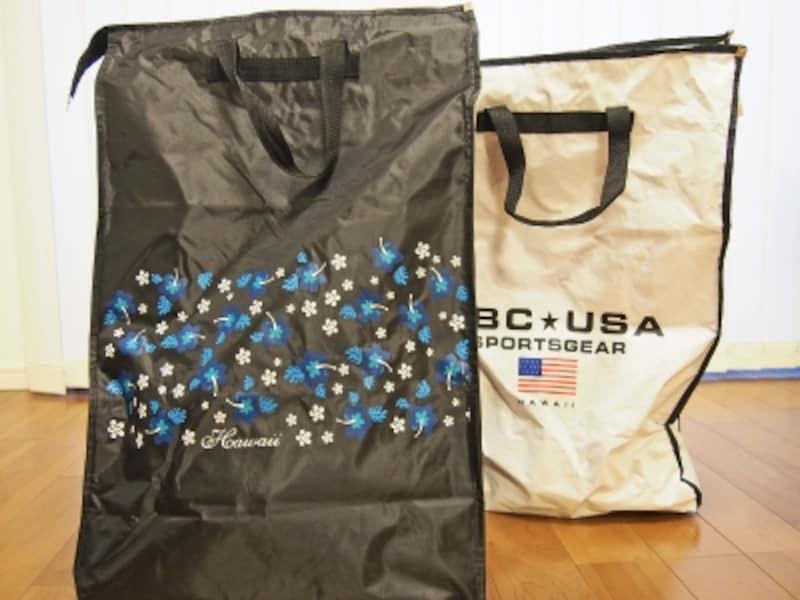 オリジナルキャスター付きバッグ。サイズは60×40×20センチの1サイズ