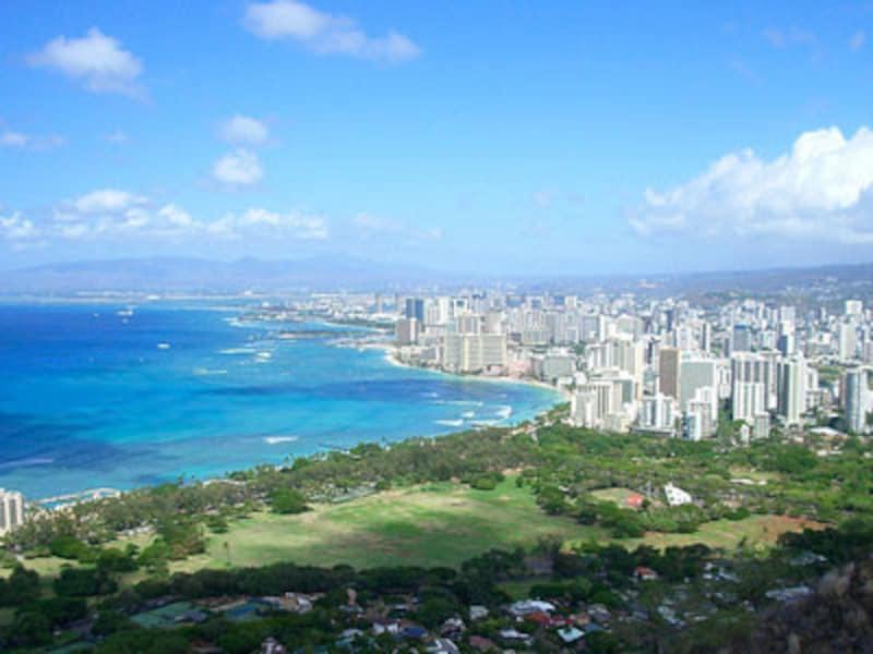雨が降ってもにわか雨程度。ハワイの人たちは、傘をさす習慣はありません