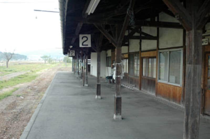 長野電鉄木島線木島駅