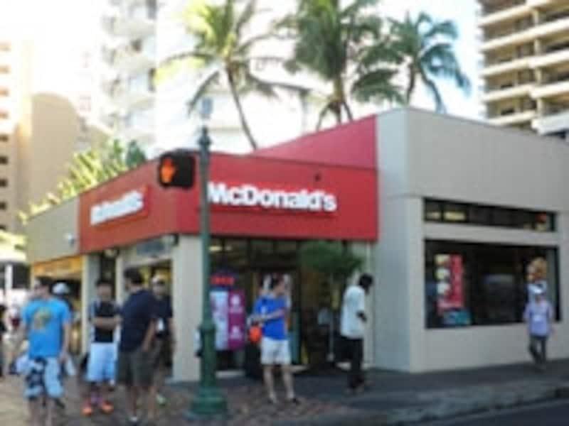 マクドナルドもワイキキ価格