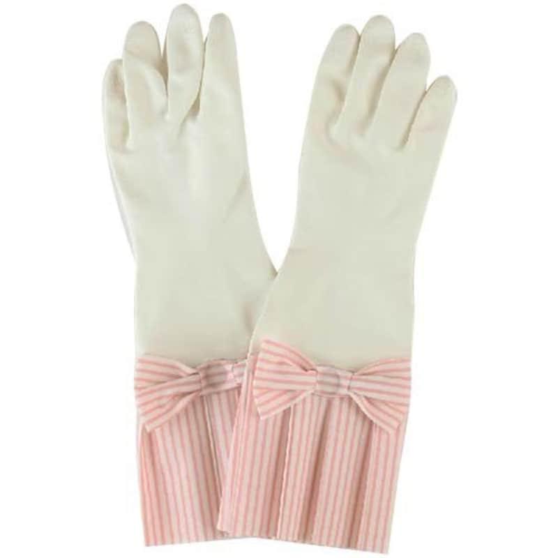 環境美装 ゴム手袋 ラブグローブ ピンクストライプ W-PS